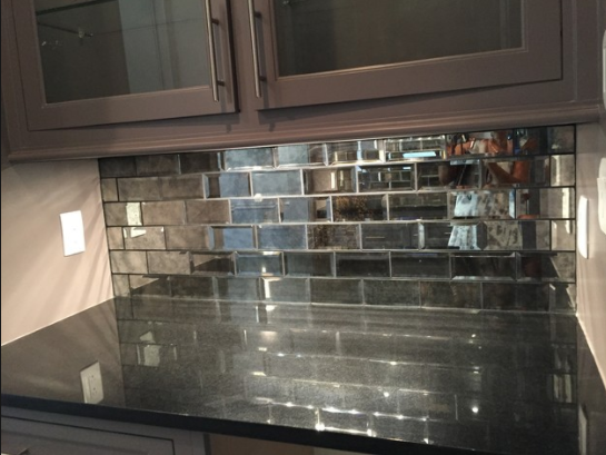 Antique Mirror Glass Splashbacks - All Purpose Glazing