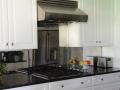 kitchen glass mirror antique effect glass splash backs black glass with silver