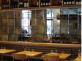 resturant glass fitout stylish modern interir design using antique glass mirror for a stylish