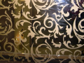 Decourative Etched glass mirror