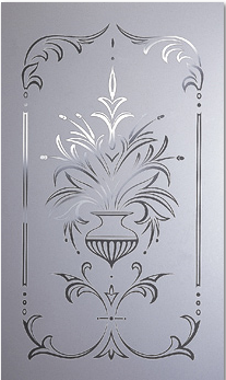Decorative door glass all purpose glazing for Back painted glass designs for wardrobe