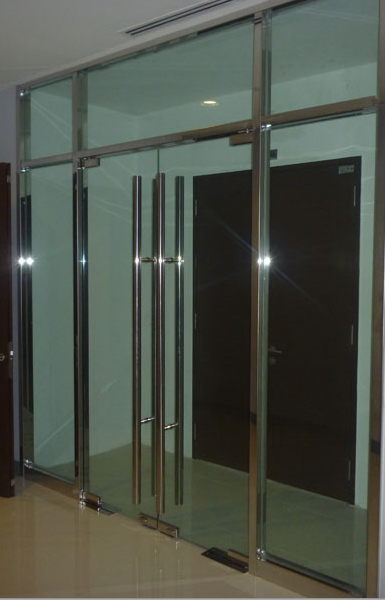 Glass Lobby Glass and Door Decorative chrome frame in northern ireland.png & Frameless Glass Doors - All Purpose Glazing