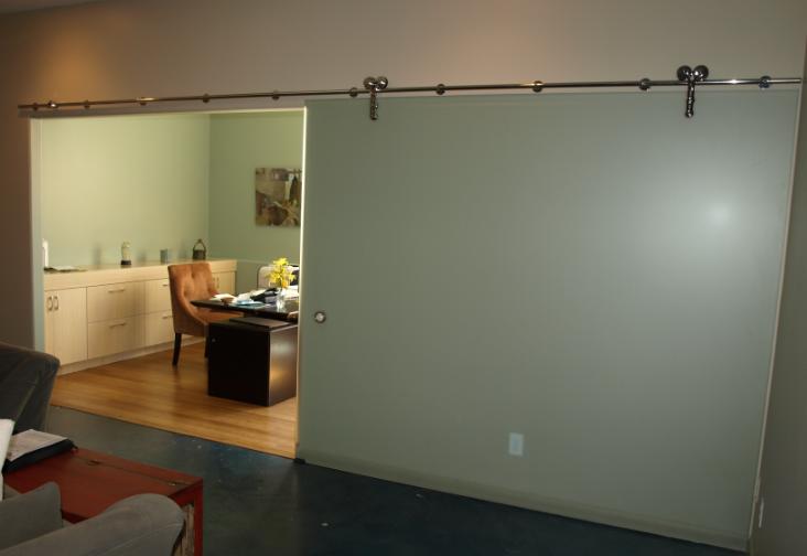 Modern Custom Design Architectural Glass Slide Door On Heavy Duty Sliding Chrome Fixture