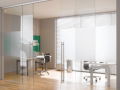 Donegal glass Quality Custom design modern architectural glass slide door on heavy duty sliding chrome glass sliding fixture made bespoke in Northern ireland.png