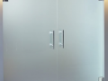 Frosted sandblasted obscure glass doors in derry Custom made office fit out internal glass office space with glass partitions in derry city and across ireland.png