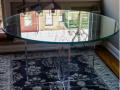 touquality modern interior design uv bonding glass table made for interior design glass in ireland