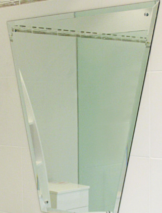 Decorative Bathroom Sink Glass Mirror With Holes And Safety Baking Made To Any Size Shaped