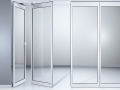 AA24-Horizontal sliding wall with rugged frames for maximum protection