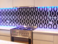 Black and white glass splashbacks derry patterns and custom made designs glass splash backs northern ireland