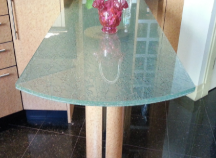 Kitchen Glass Counter Table Top Cracked Ice Tughen Glass Laminated Glass  Cracked Ice Kitchen Glass In