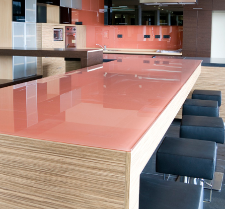 Kitchen Glass Counter Top Table Top Glass Made To Measure Pink Back Painted  Glass Table Top