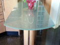 Kitchen glass counter table top cracked ice tughen glass laminated glass cracked ice kitchen glass in ireland