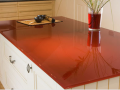 Large table top protection and stylish thick glass table top made in toughen back painted glass table top made in ireland