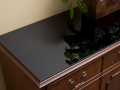 black satin sheek glass table top for quality furniture protection with glass made in ireland