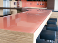 kitchen glass counter top table top glass made to measure pink back painted glass table top in ireland