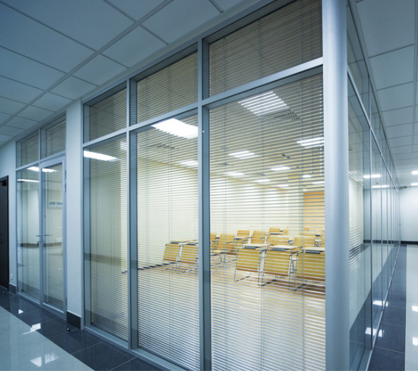 Glass partitions all purpose glazing aluminium frame internal blinds glass partitions and doors in derry city and northern irelandg planetlyrics Choice Image