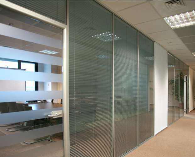 Glass Partition Door Office Partitioning Frameless  : Internal Blinds Glass Partitions and doors in Northern Ireland from honansantiques.com size 621 x 500 png 399kB