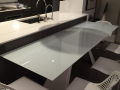Custom made kitchen table top counter glass toughen glass ireland