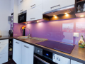 Glass splash back custom made coloured glass for kitchens in ireland