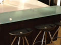 Kitchen counter top Glass breakfast Bar in contemporary glass quality fixtures and fittings in derry city and Northern ireland - Copy
