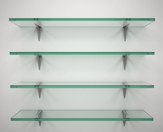 basic bathroom glass shelf glass toughen display shelf custom made any