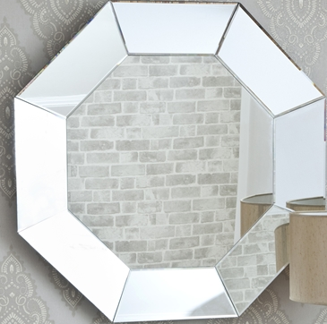 Made to measyre full length octagon decorative large glass for Full length glass mirror