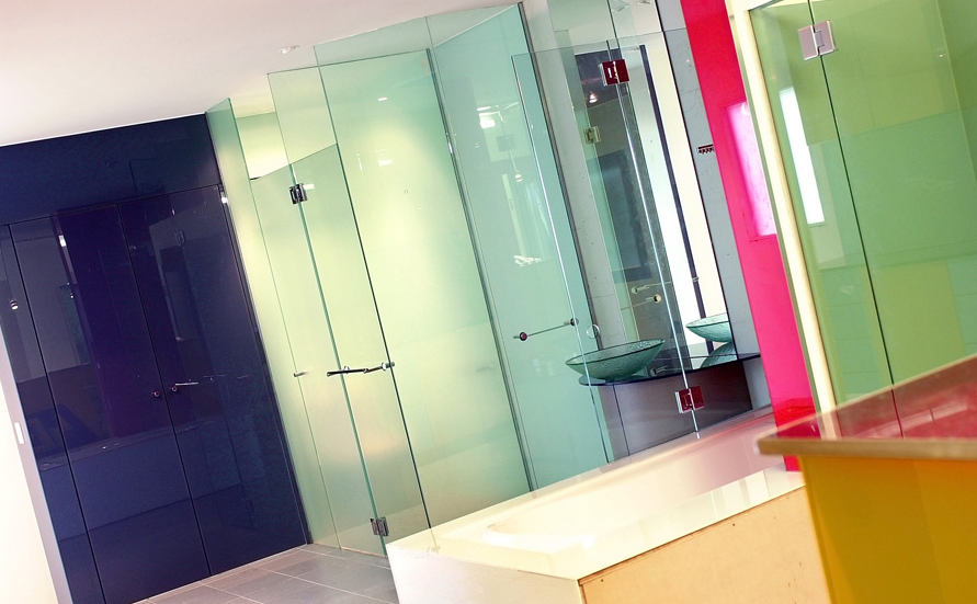 Bathroom Glass Painted Glass Wall Cladding And Coloured