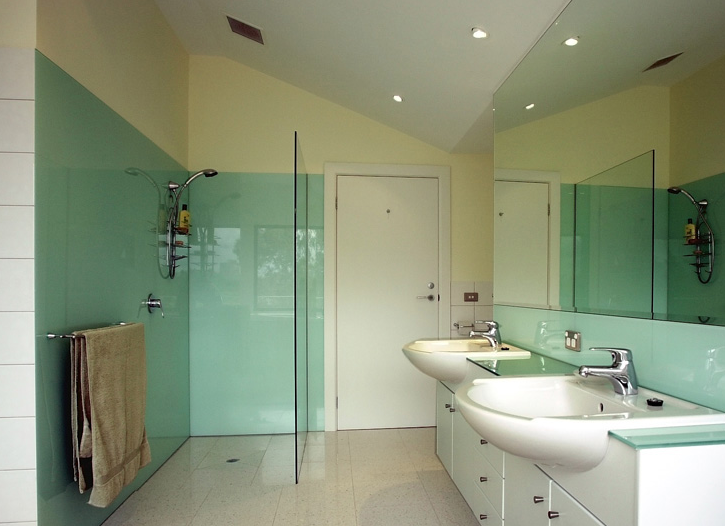 Bathroom glass painted glass wall cladding and coloured for Bathrooms n ireland