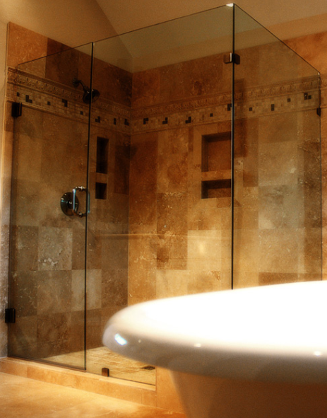 Corner Shower Doors - All Purpose Glazing