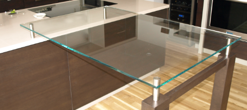 Ultra Modern Kitchen Glass Table Tops Manufactured And Supplied