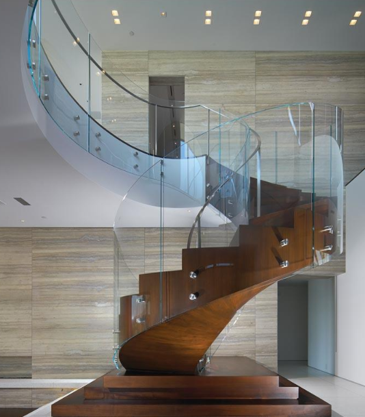 Curved Glass Ireland Curved Staircase Glass Made To
